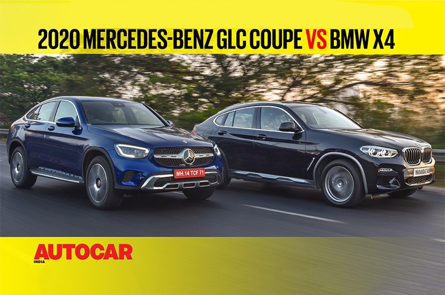 2020 Mercedes-Benz GLC Coupe vs BMW X4 comparison video