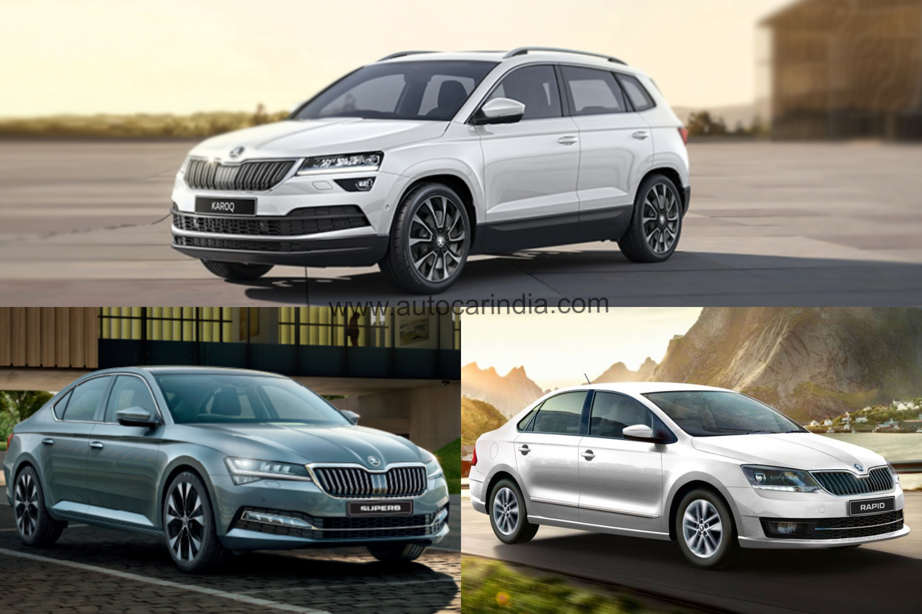 Skoda Karoq, Superb facelift, Rapid 1.0 TSI launch on May 26