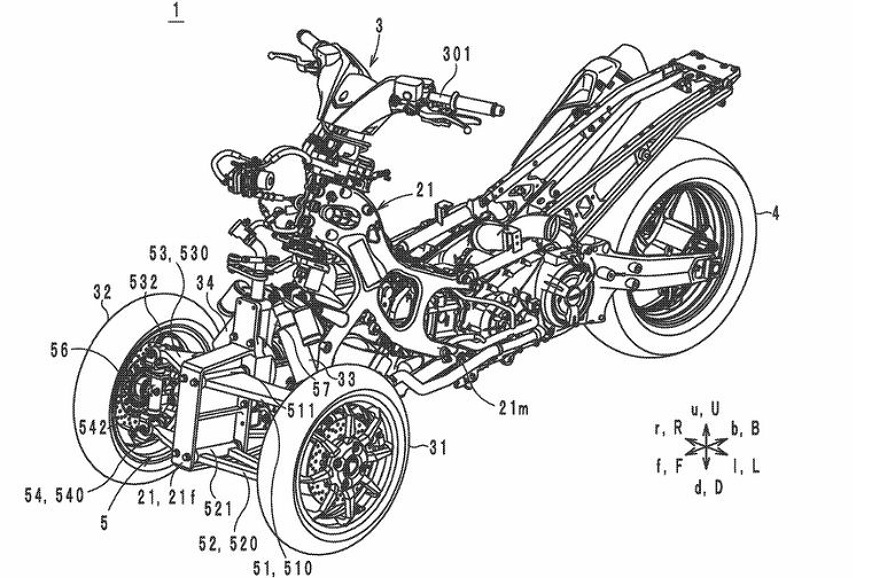Yamaha working on new suspension system for trikes