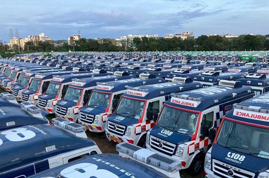 Over 1,000 Force ambulances supplied to Andhra Pradesh government