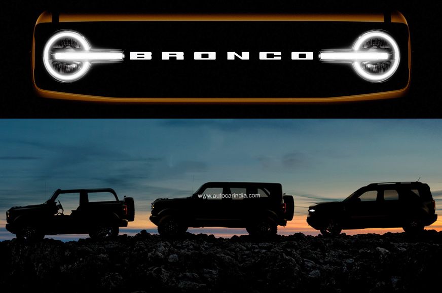 New Ford Bronco SUV line-up teased ahead of July 13 unveil