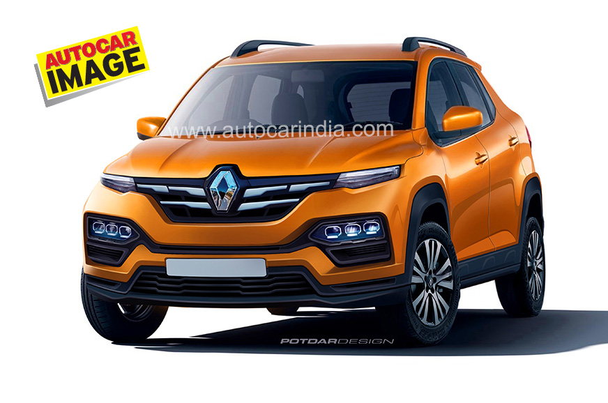 Renault Kiger Suv Rendered In Production Spec Launch Soon Autocar India