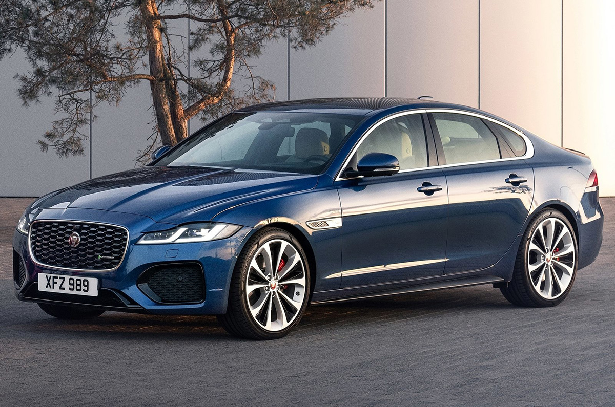 4 Jaguar XF facelift revealed with mild-hybrid tech - Autocar India