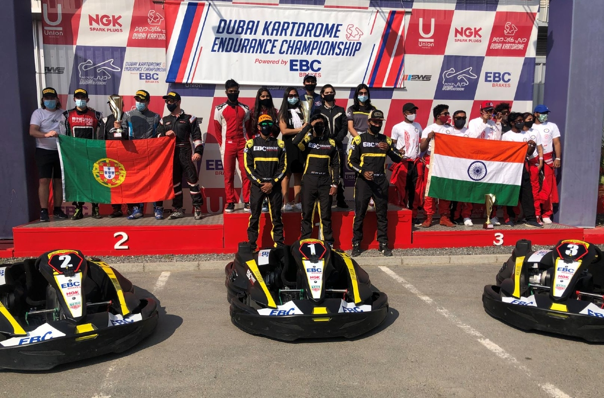 20201217023041 Team India Podium India wins Nations Cup in 2020 Dubai Endurance Karting Championship