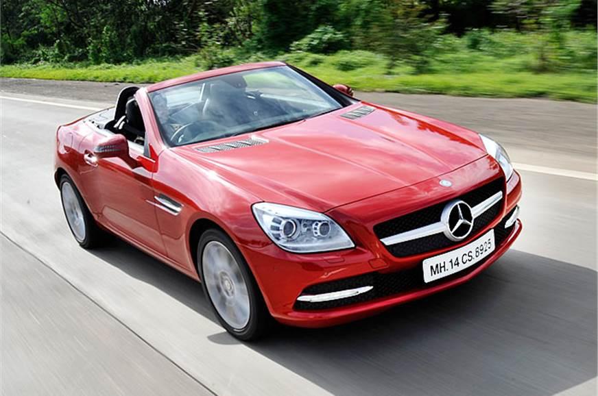 mercedes slk 350 review test drive autocar india. Black Bedroom Furniture Sets. Home Design Ideas