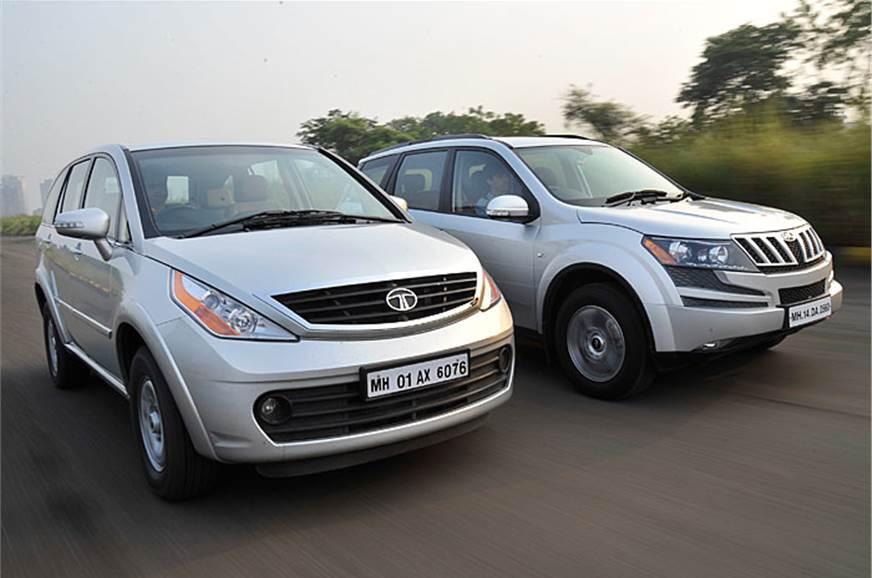 Mahindra Xuv500 Vs Tata Aria 4x2 Feature Autocar India