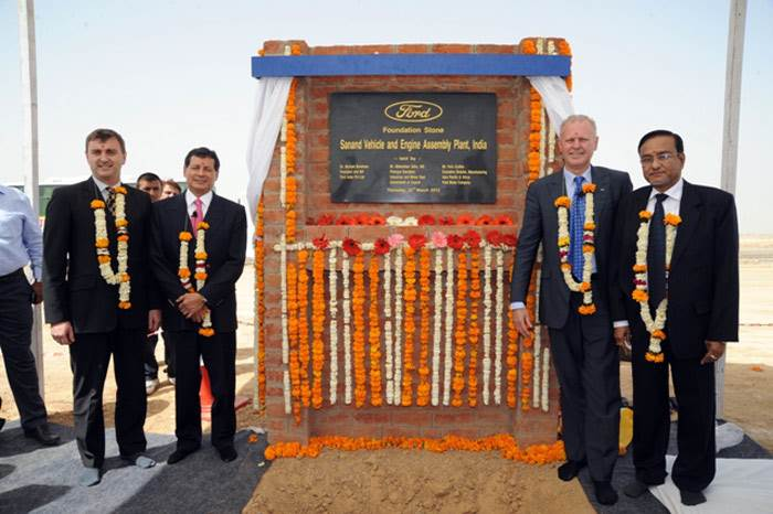 Ford lays Sanand plant foundation - Autocar India