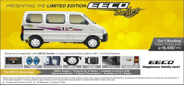 Limited Edition Maruti Eeco Launched Autocar India