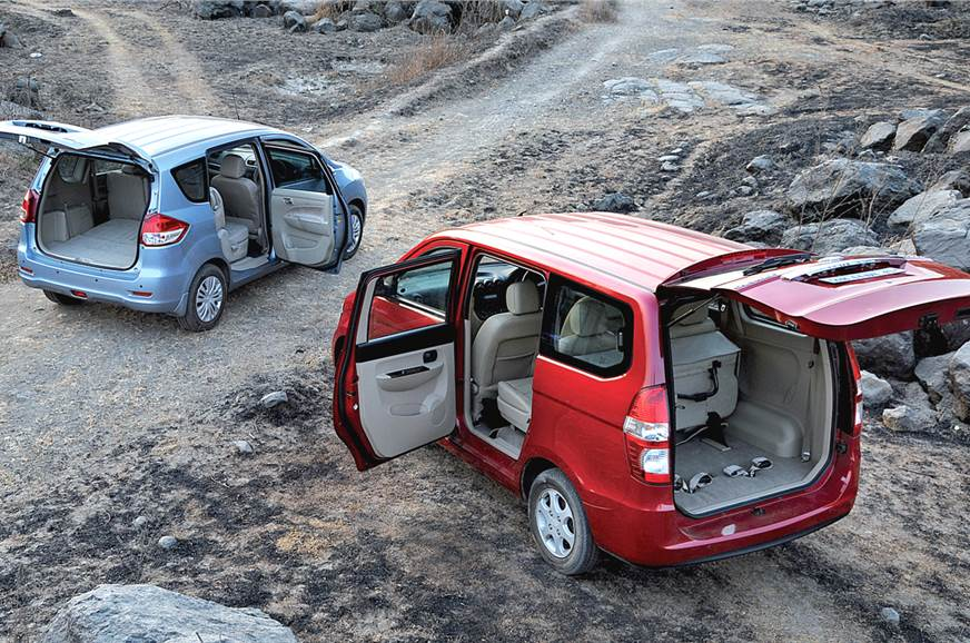 Chevrolet Enjoy Vs Maruti Ertiga Feature Autocar India