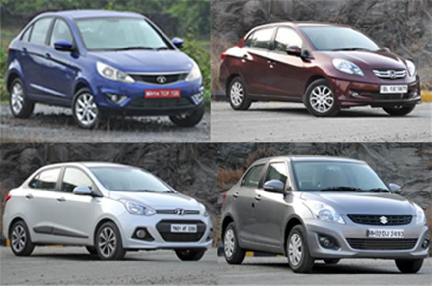 Tata Zest Vs Maruti Dzire Vs Honda Amaze Vs Hyundai Xcent Comparison