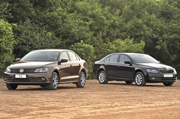 2015 volkswagen jetta vs skoda octavia diesel comparison - autocar india