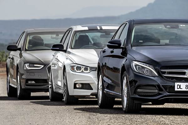 New Mercedes Benz C Class Vs Bmw 3 Series Vs Audi A4 Comparison