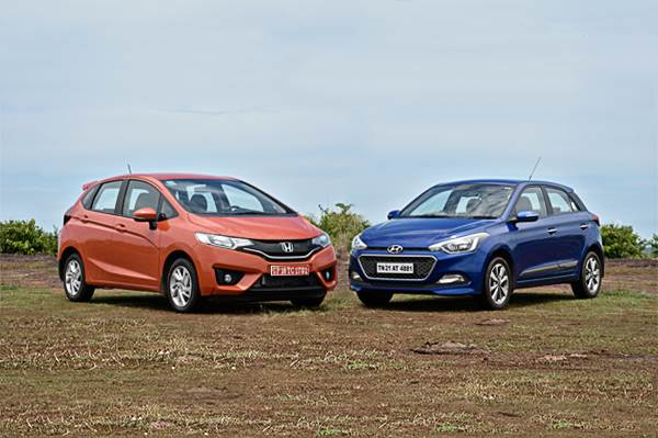 New Honda Jazz Vs Hyundai I20 Specifications Comparison Autocar India