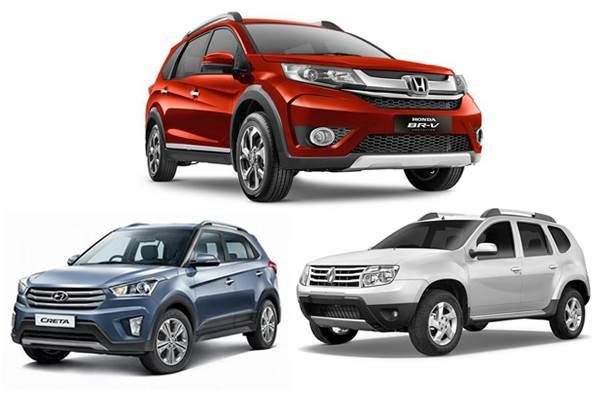 Honda Br V Vs Hyundai Creta Vs Renault Duster Specification