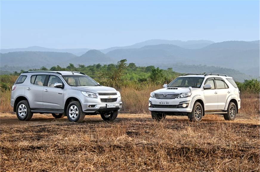 Chevrolet Trailblazer Vs Toyota Fortuner Comparison Autocar India