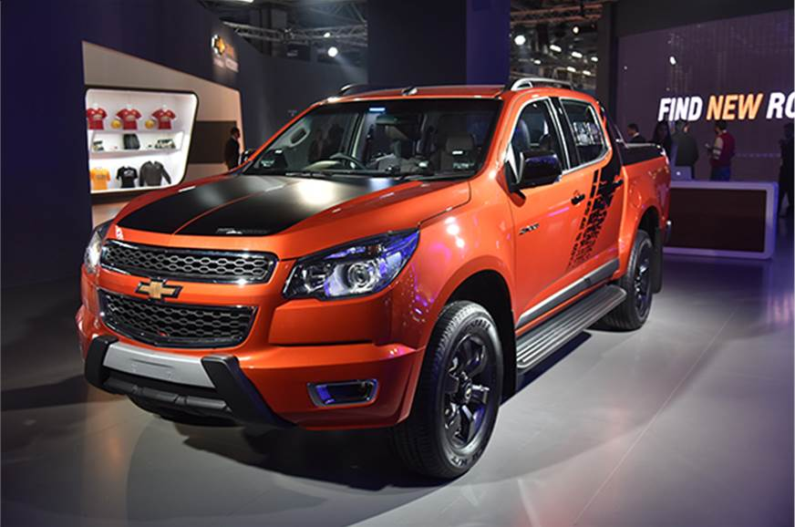 Chevrolet Cruze Colorado Spin Camaro Showcased At Auto Expo 2016