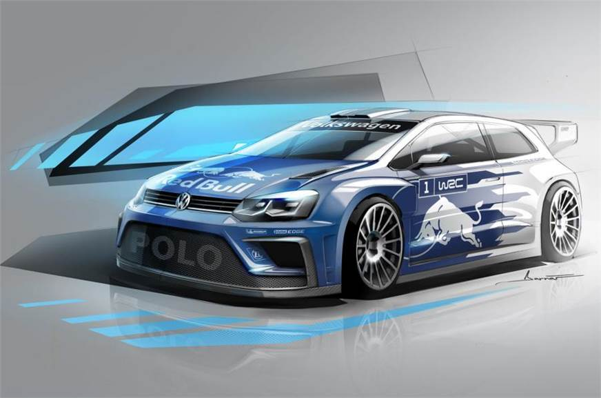 New Volkswagen Polo R Wrc Concept Sketch Revealed Autocar India