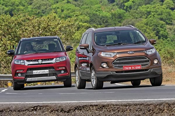 Maruti Vitara Brezza Vs Ford Ecosport Comparison Autocar India