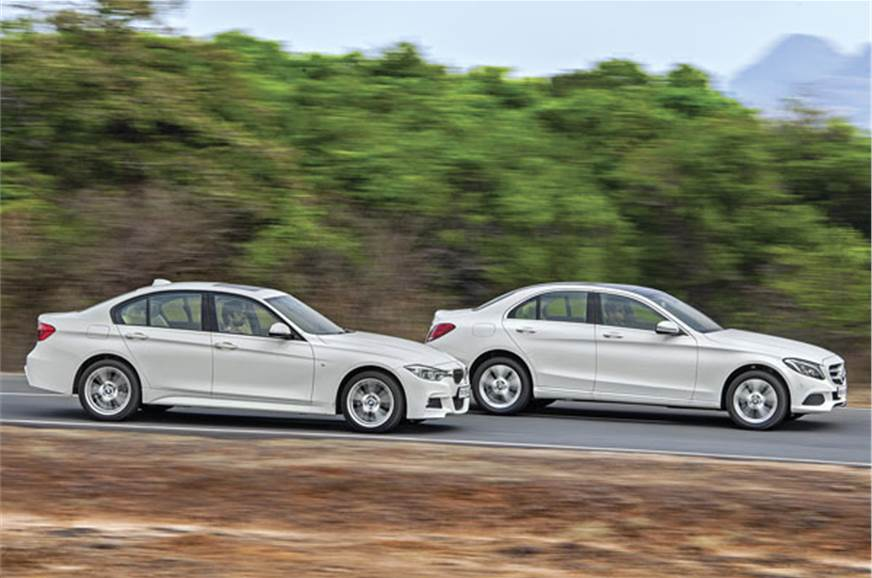 Mercedes C 250 d vs BMW 320d comparison - Autocar India