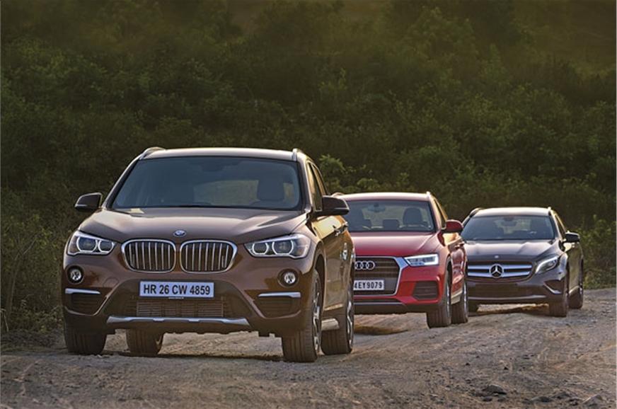 BMW X Vs Audi Q Vs Mercedes GLA Comparison Autocar India - Audi q3 vs bmw x3