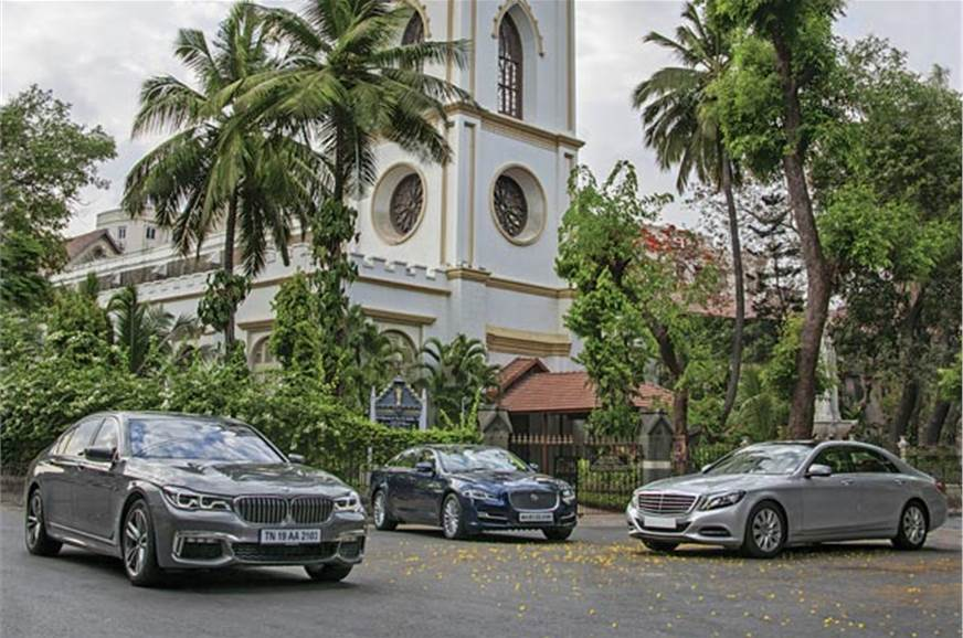 BMW 7-series vs Jaguar XJ vs Mercedes-Benz S-class comparison