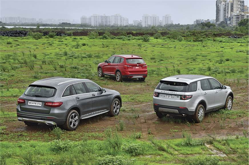 Mercedes Benz Glc 220 D Vs Land Rover Discovery Sport Vs Bmw X3