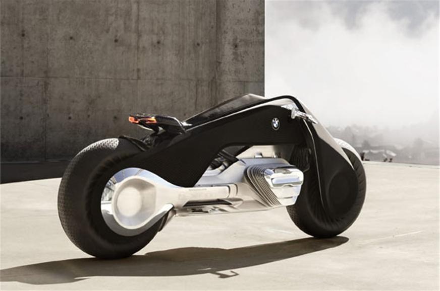 bmw motorrad unveils vision next 100 concept motorcycle autocar india. Black Bedroom Furniture Sets. Home Design Ideas
