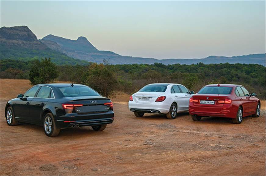 New Audi A TDI Vs Mercedes Cd Vs BMW D Comparison Autocar - Bmw vs audi
