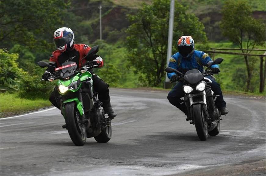Triumph Street Triple S vs Kawasaki Z900 - Autocar India
