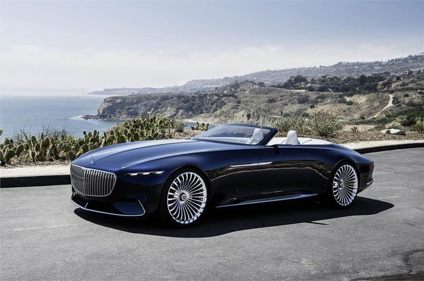 all-electric mercedes-maybach 6 cabriolet concept unveiled - autocar