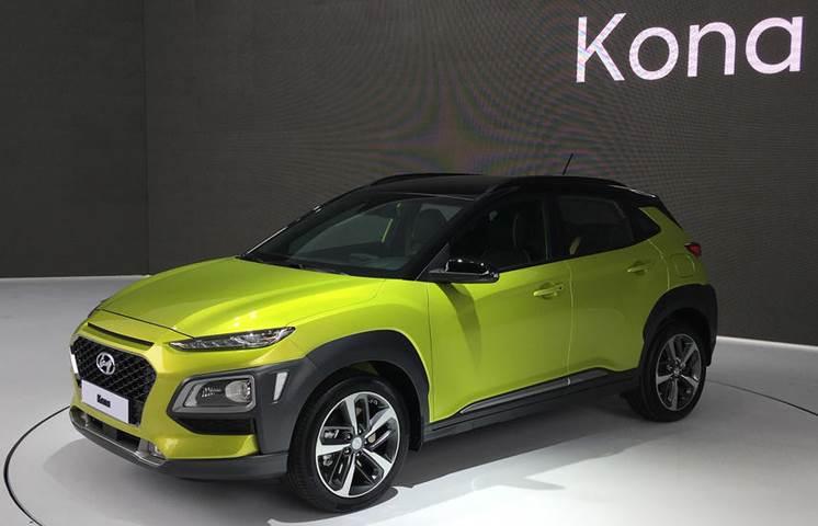 Hyundai Kona Ev Showcased At Frankfurt