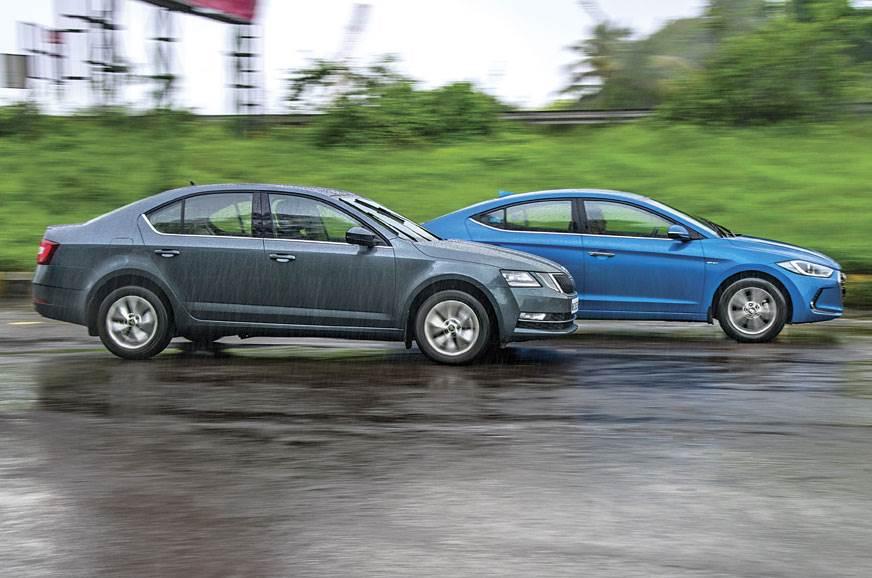 2017 Skoda Octavia vs Hyundai Elantra comparison - Autocar India
