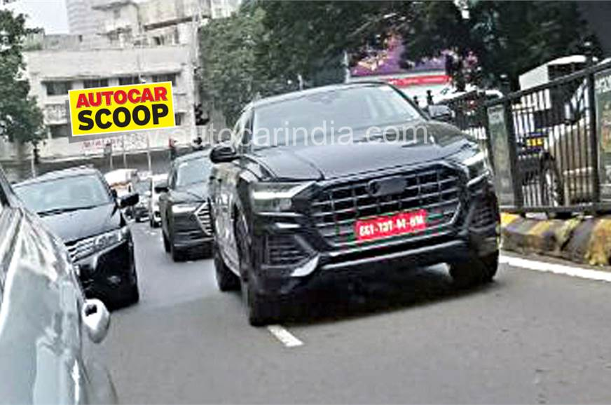 Audi Q8 Concept: Specs, Production Version >> Audi Q8 Spied In India For The First Time Autocar India