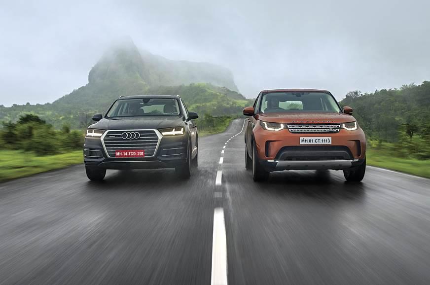Range Rover Vs Land Rover >> 2017 Land Rover Discovery Vs Audi Q7 Comparison Autocar India
