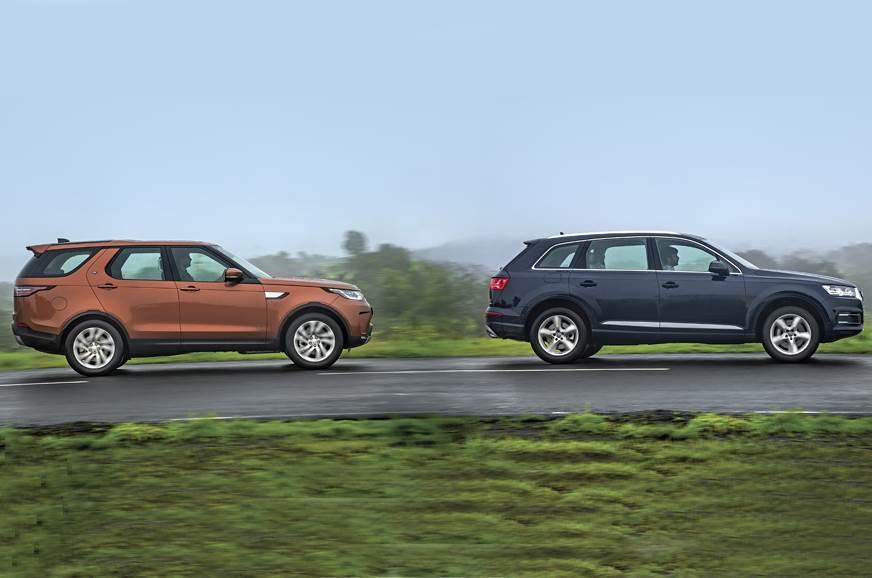 2017 Land Rover Discovery vs Audi Q7 comparison - Autocar India