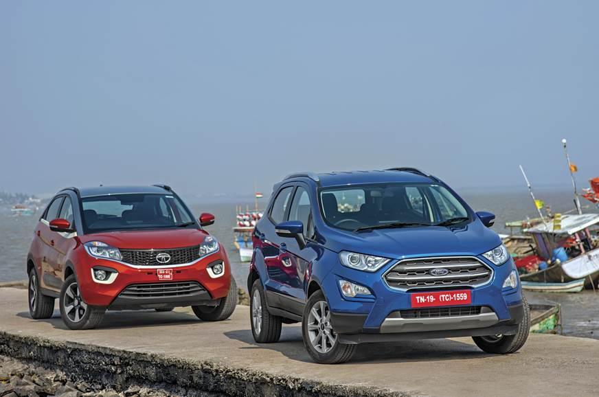 2017 Ford Ecosport Vs Tata Nexon Petrol Comparison Autocar India