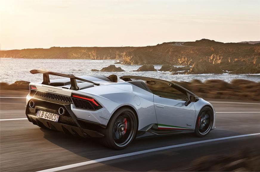 Lamborghini Huracan Performante Spyder Convertible Supercar