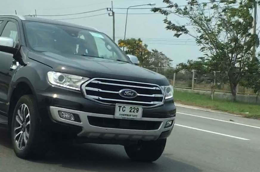 2018 Ford Everest Endeavour Facelift Spied Launch Date Price
