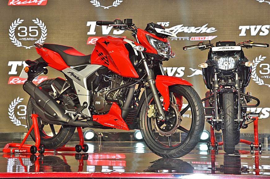 2018 Tvs Apache Rtr 160 4v Launched In India At Rs 81 490 Autocar
