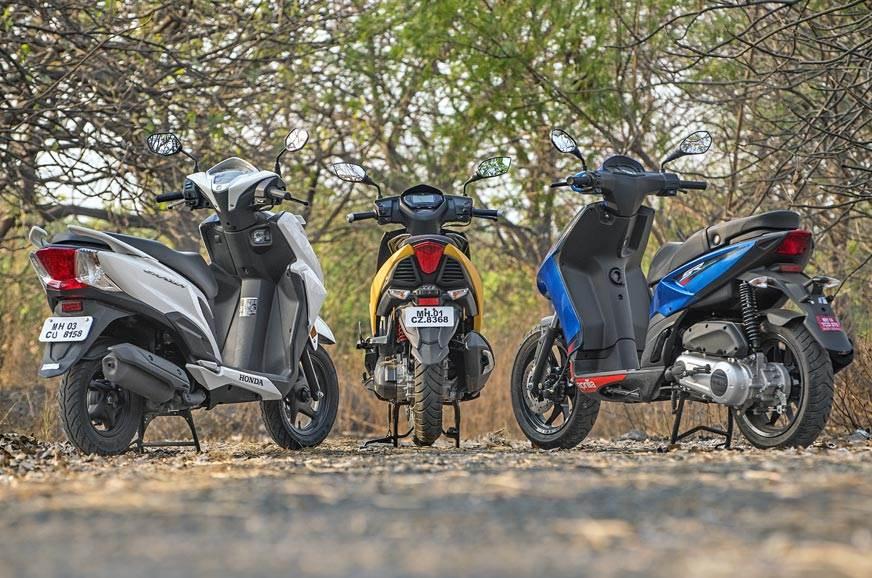 2018 Honda Grazia vs TVS Ntorq vs Aprilia SR 125 scooter