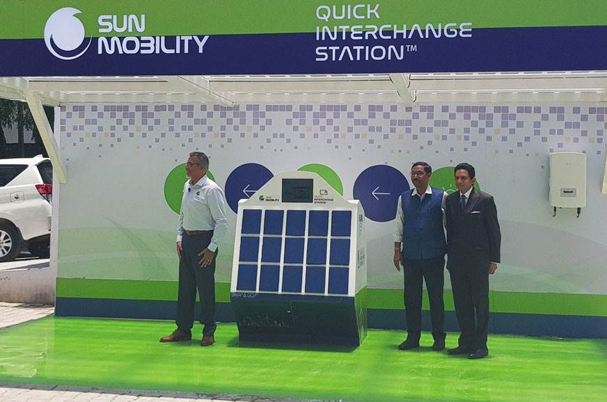 Sun Mobility reveals battery swap solution for EVs - Autocar India
