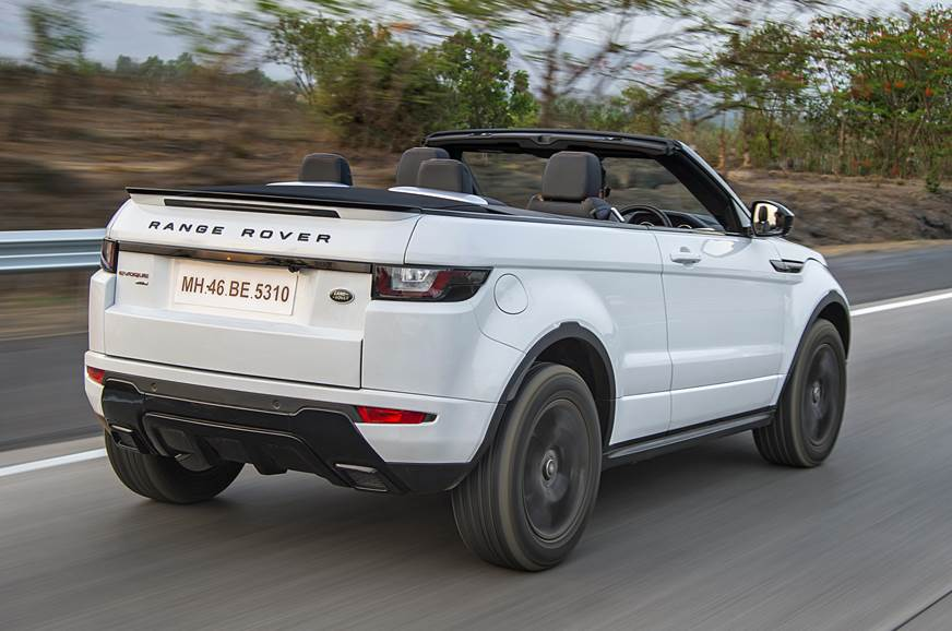 2018 Range Rover Evoque Convertible Review Test Drive Autocar India