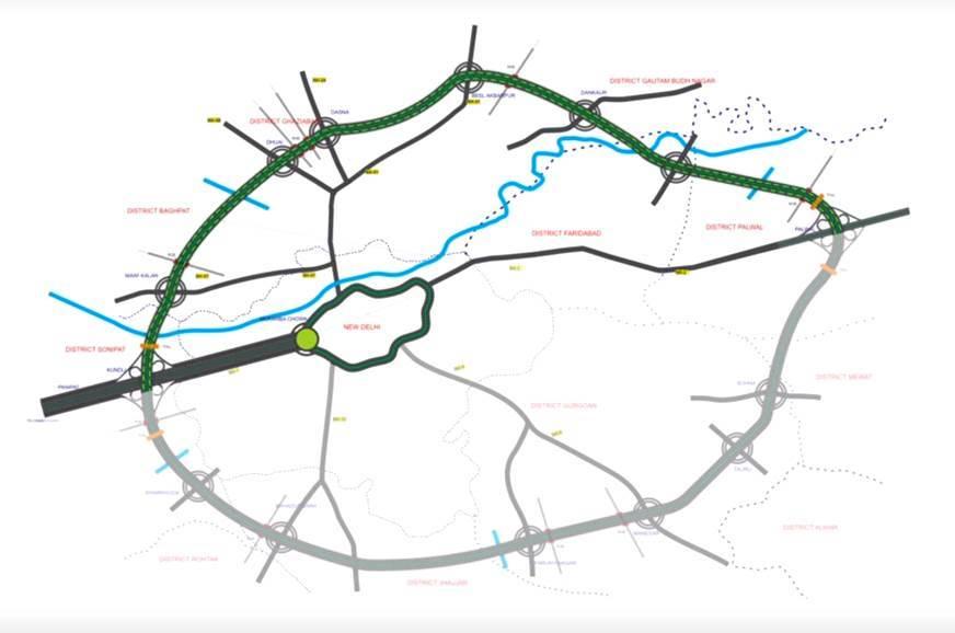 Meerut India Map.Delhi Meerut Eastern Peripheral Expressways Inaugurated Autocar India