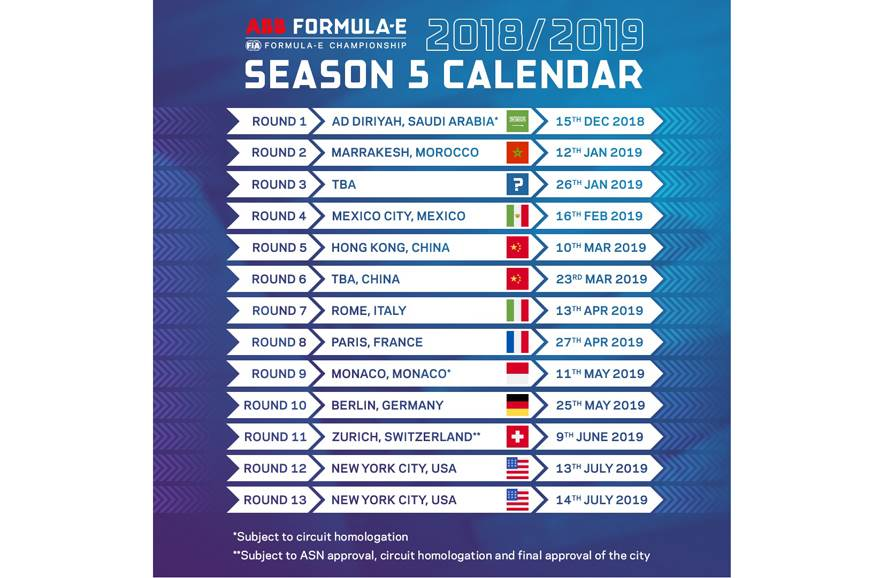 Formula E season five calendar revealed - Autocar India