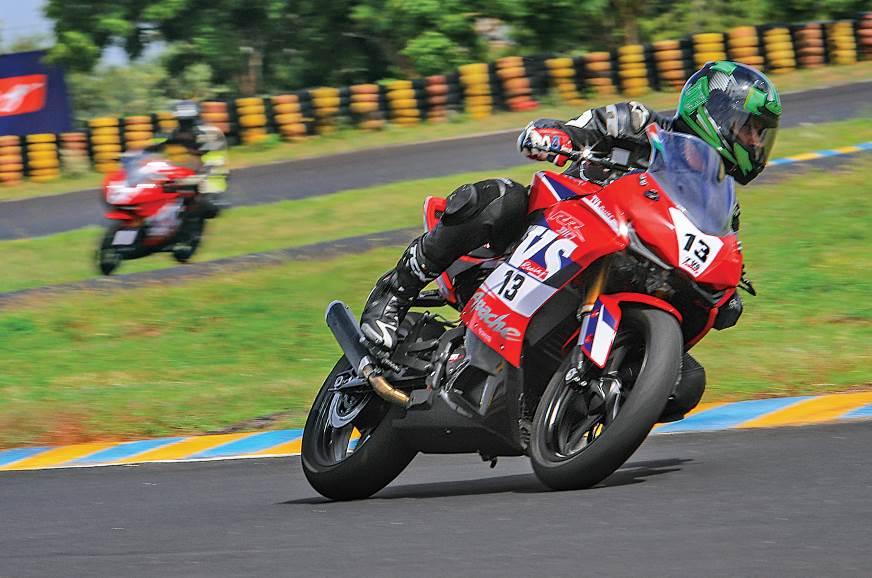 TVS Apache RR 310 Cup race bike review, track ride - Autocar India