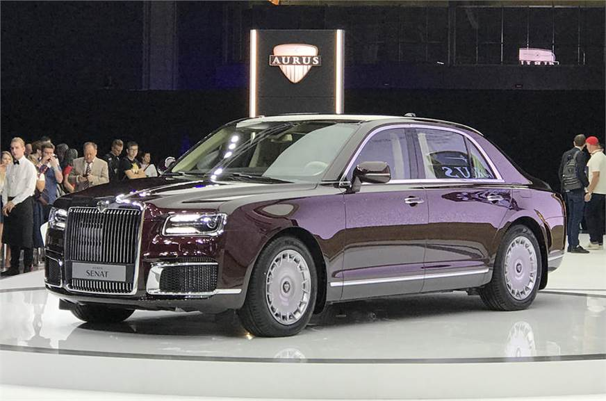 aurus debuts with russian presidential limousine autocar india