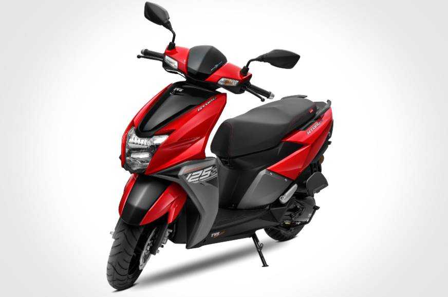 Tvs Ntorq 125 Gets New Red Colour Autocar India