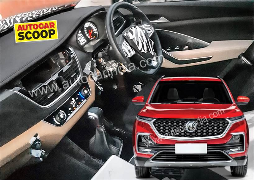 India Bound Mg Suv Interior Spied Autocar India