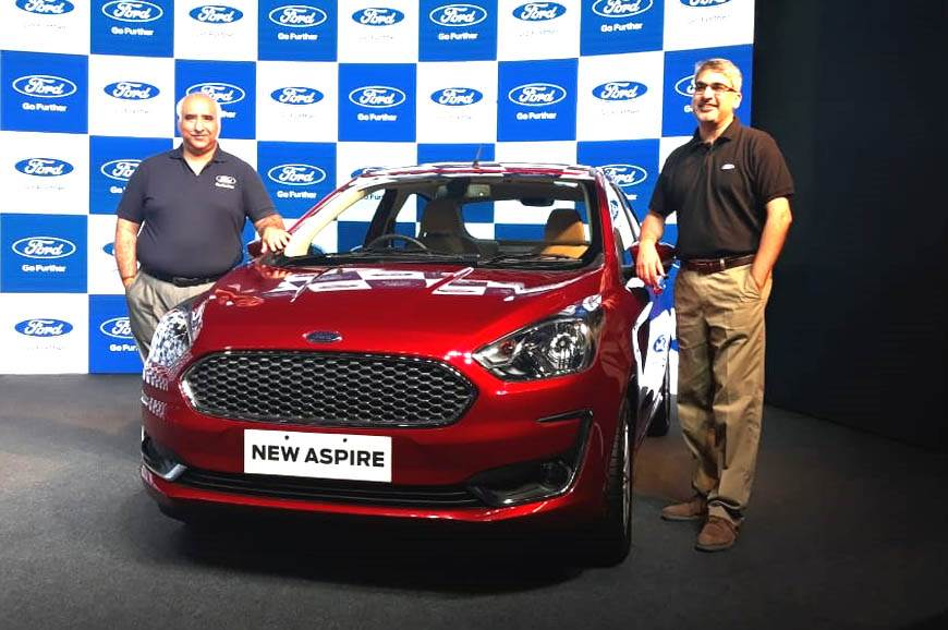 2018 Ford Aspire Launched At Rs 5 55 Lakh Autocar India