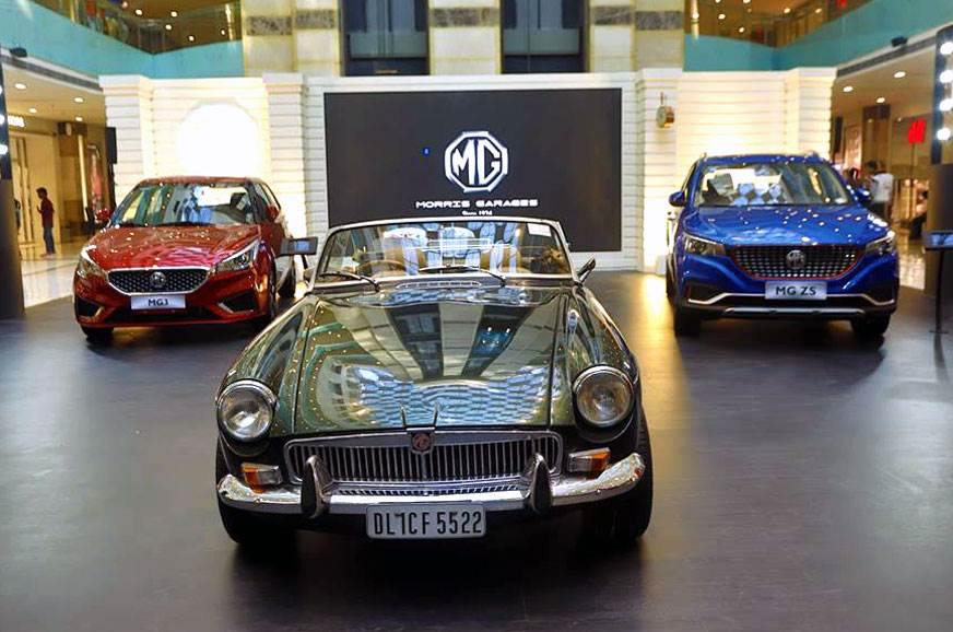 Mg Motor Starts Showcasing Its Models In India Autocar India